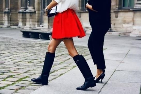 Всегда в моде красная юбка