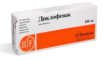 Особенности применения препарата диклофенак