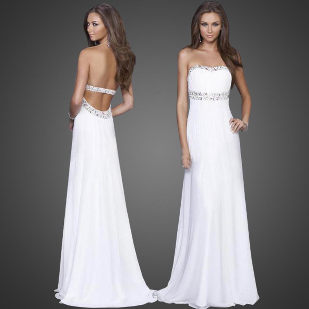 Белое вечернее платье: просто попробуйте