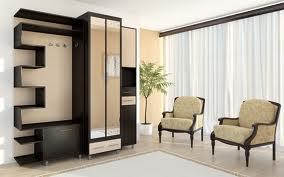 Дизайн широкой и длинной прихожей — мебель
