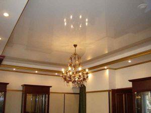 Глянцевые натяжные потолки со светодиодами