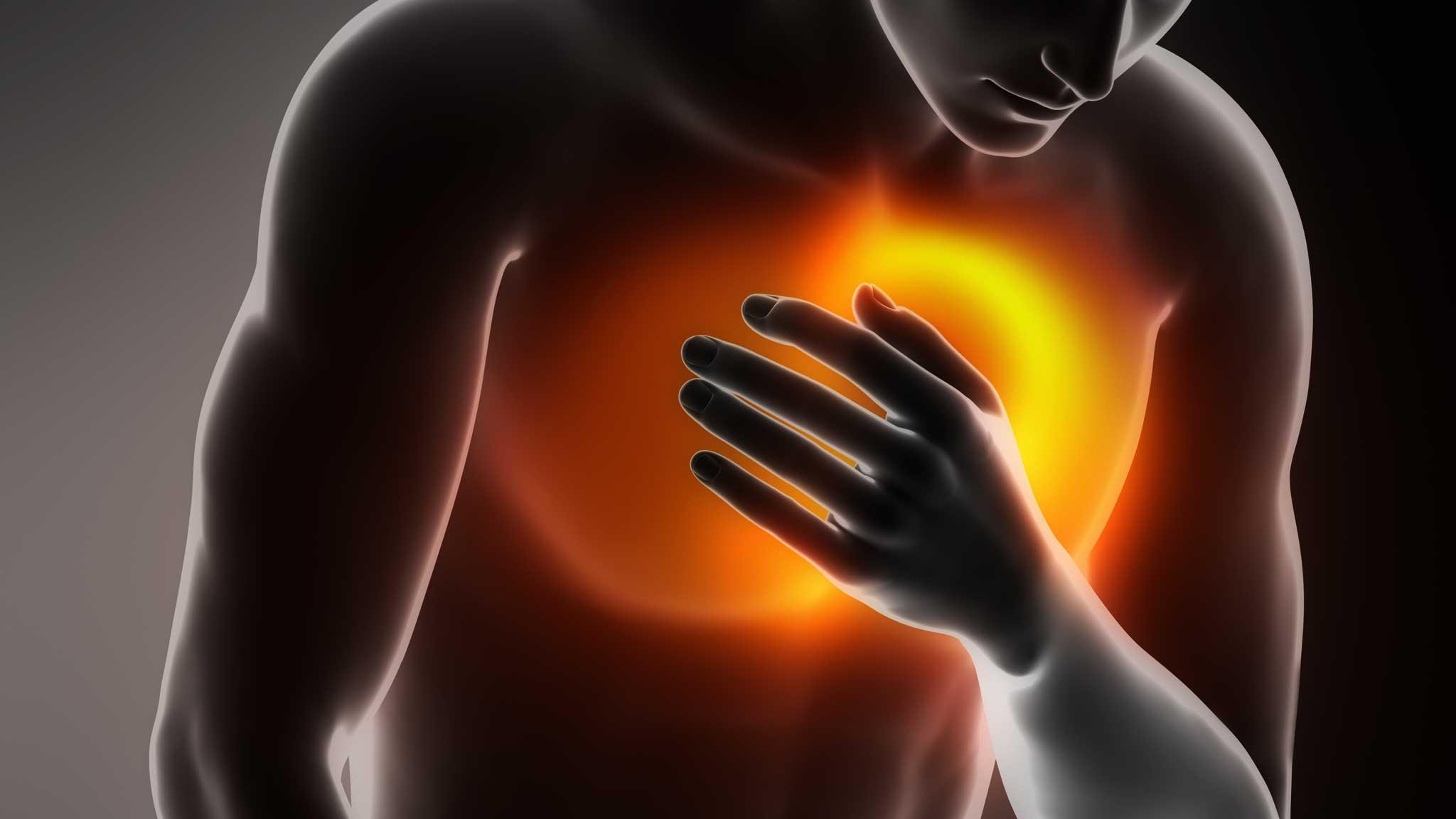 Боли в груди могут возникнуть от стресса