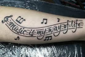 Какие музыкальные татуировки сейчас в моде?