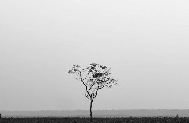 Человек в одиночестве и вокруг него