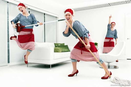 Уборка улучшает психологическое состояние женщин