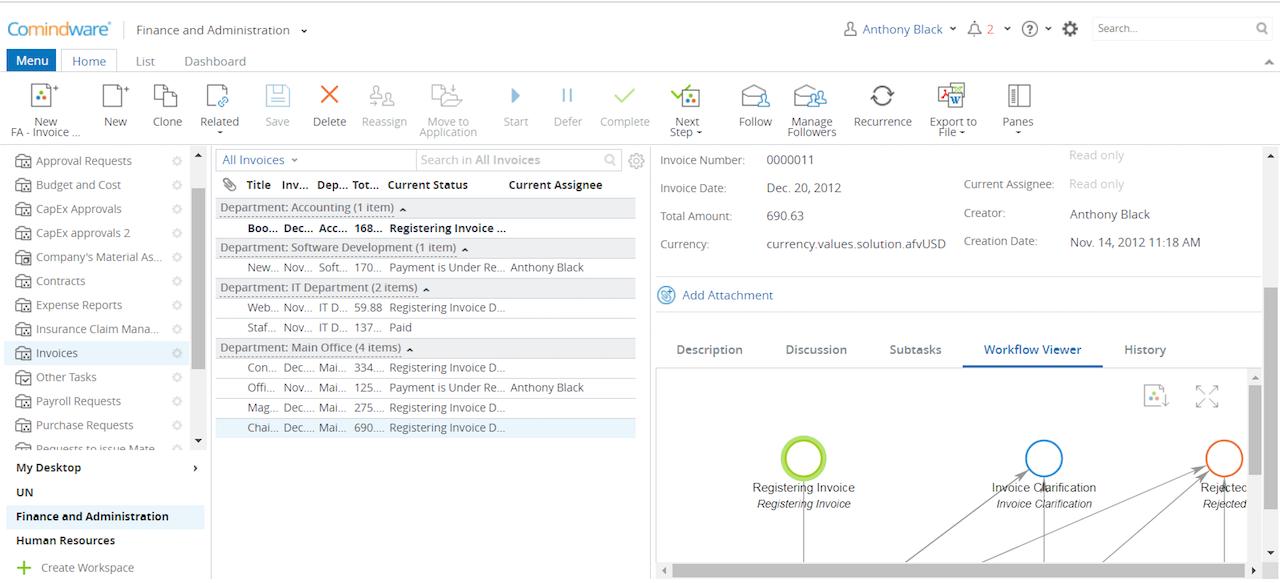 Как использовать моделер бизнес-процессов Comindware Business Application Platform